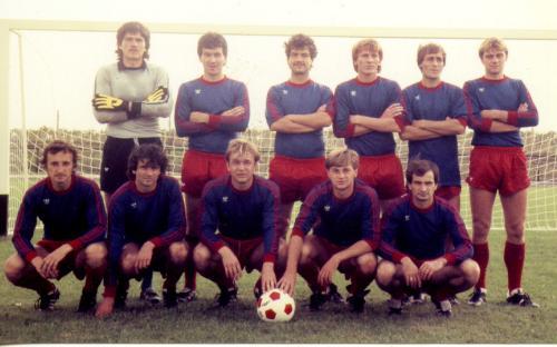 Sükösdi pályaavató 1980. X. 21. Csepel SC NBI-es csapata