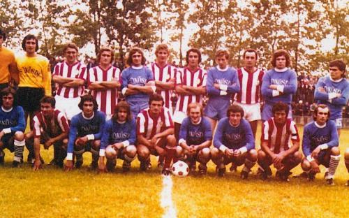 Budapesti Honvéd és Sükösd csapata 1976.08.14.