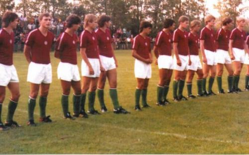 Magyar Ifjúsági Válogatott Sükösdön 1979. augusztus 11-én