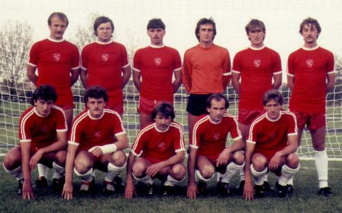 Felnőtt csapat 1980. X. 21. pályaavató mérkőzés a Csepel SC NBI-es csapat ellen