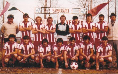 Felnőtt csapat (Megyei I.) 1982. ősz Sárbogárdon barátságos mérkőzés