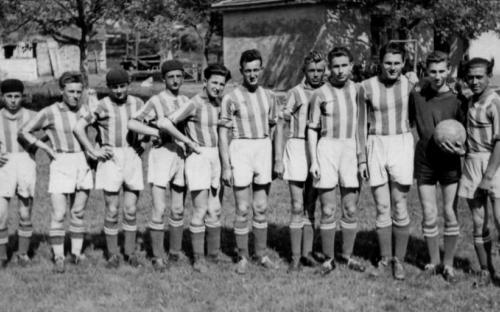 Az első sükösdi ifjúsági csapat 1955. járási bajnokság